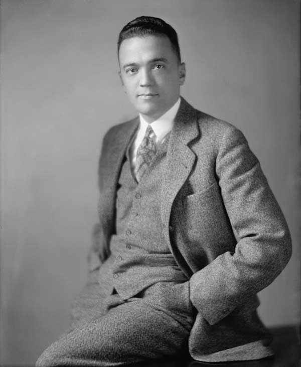 "J. Edgar Hoover, enigmatic genius most responsible for building the FBI. Catching ""Pretty Boy"" Floyd became a raging obsession for Hoover. He would eventually stop at little—if anything—to do so"