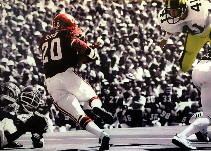One of the classic jumbo photos gracing the walls of Billy Sims BBQ