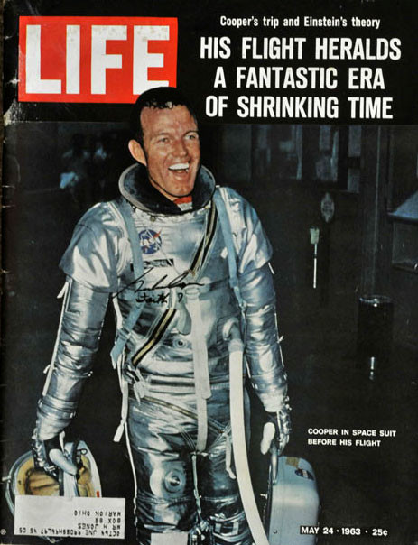 Shawnee native Gordon Cooper on the cover of Life magazine