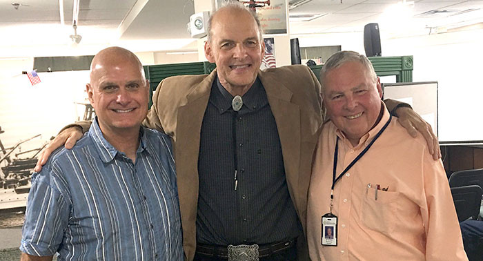 John with Bartlesville rancher and civic leader Steve Adams and longtime Bartlesville City Manager Ed Gordon
