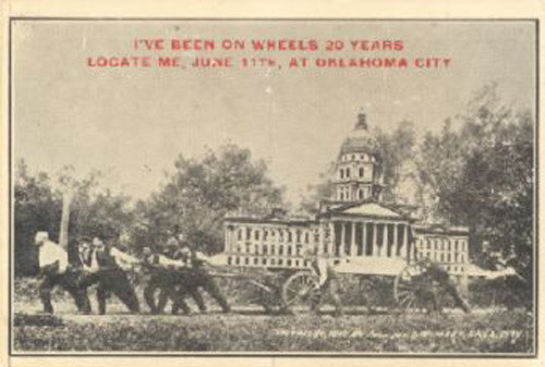 A humorous pro-OKC newspaper advertisement during the 1910 campaign for state capital