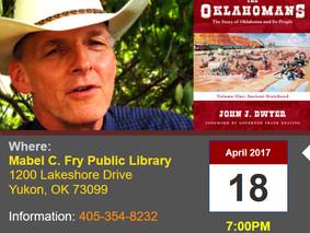 John Talks the Chisholm Trail & Oklahoma History This Tuesday Night in Yukon