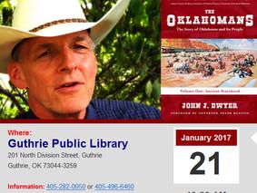 John Shares New Oklahoma History Presentation This Saturday in Guthrie