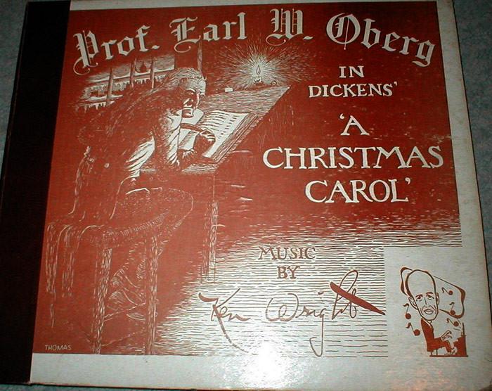"World War 2 radio performance of Charles Dickens' ""A Christmas Carol"""