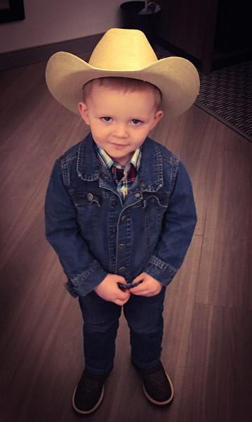 Grandson Luke Dwyer