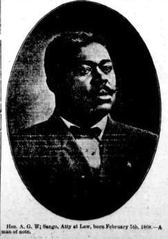 Creek freedman, Muskogee pioneer, educator, lawyer, and publisher A. G. W. Sango