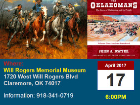 John in Claremore Monday Night to Talk Oklahoma History