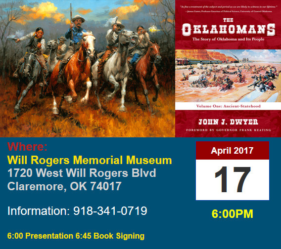 Will Rogers Museum speaking April 17
