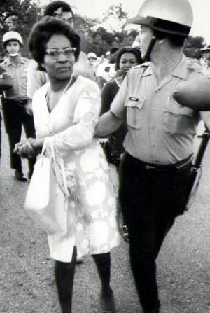 Civil Right Clara Luper getting arrested