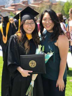 Diane and Casey Kim as Diane receives her masters degree in civil engineering from the University of Colorado. Both ladies earned their bachelors degrees from the University of Oklahoma
