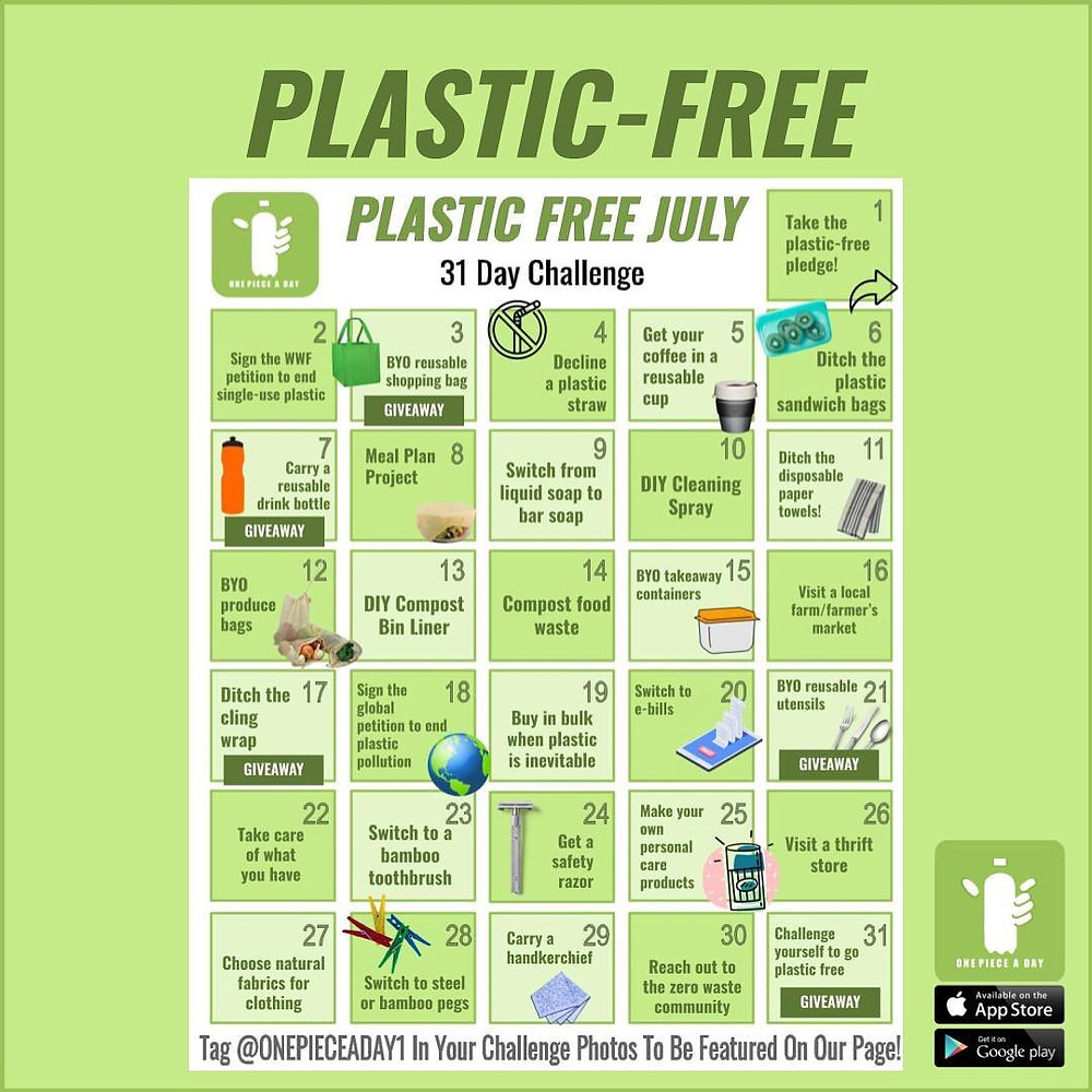 Plastic Free July 31 Day Challenge