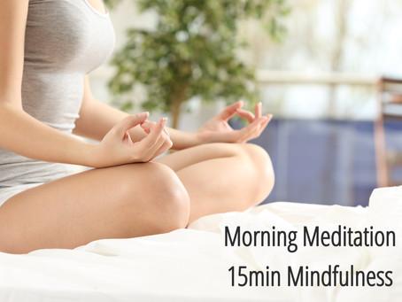 期間限定 オンライン【朝のマインドフルネス瞑想】