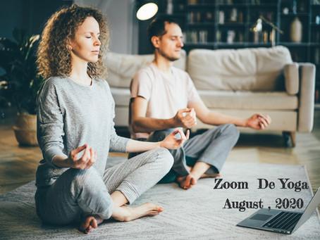 8月スケジュール【Zoom de ヨガ】