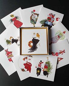 Kolekce vánočních blahopřání - 10 kusů