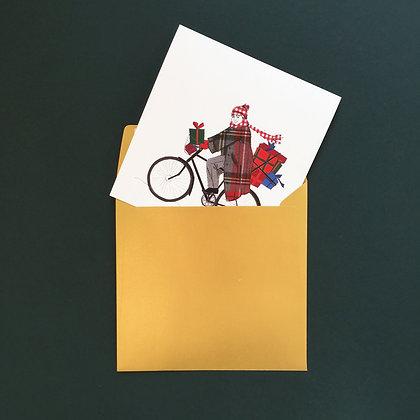 Dárky na kole - vánoční blahopřání