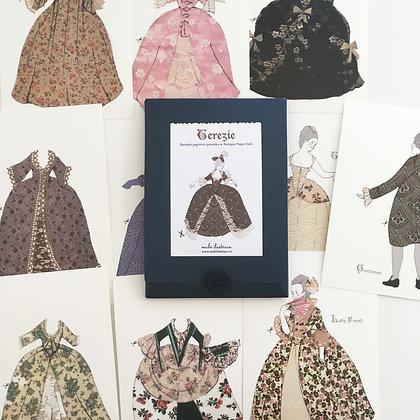 Papírová panenka Terezie - baroko