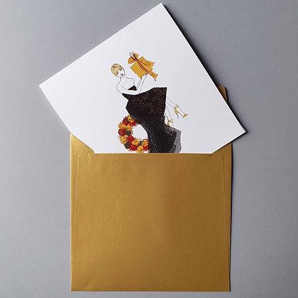 Zlaté Vánoce - vánoční blahopřání