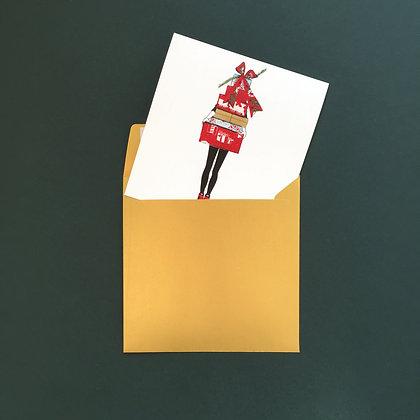 Plná náruč dárků - vánoční blahopřání