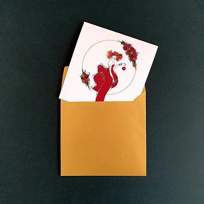 Červená ozdoba - vánoční blahopřání
