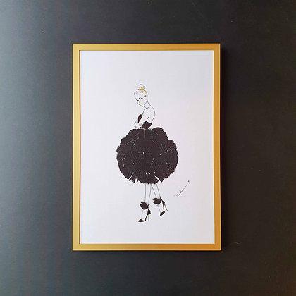 Černá labuť - Ilustrace do rámečku