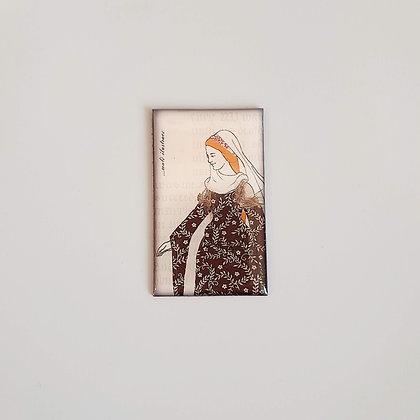 Magnetek z křišťálové pryskyřice – gotická dáma