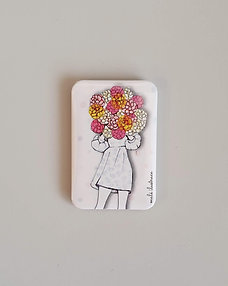 Magnetek – květinová dívka