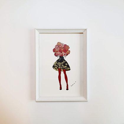 Tisk do rámečku – Slečna s růžemi