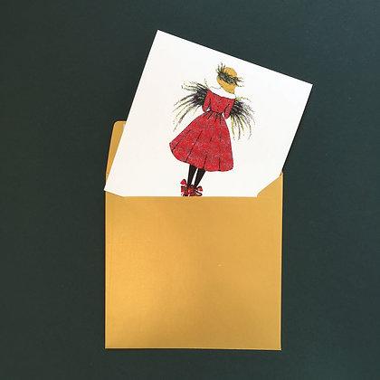 Vánoční dívka - vánoční blahopřání