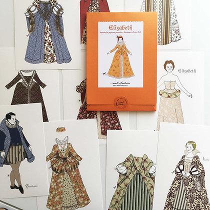 Papírová panenka Elizabeth - renesance