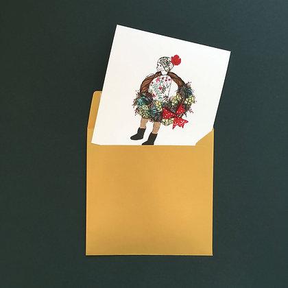 Kluk a věnec - vánoční blahopřání