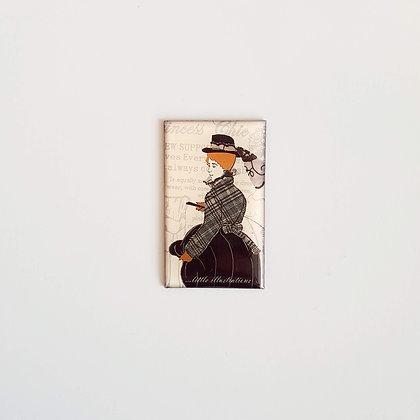 Magnetek z křišťálové pryskyřice – viktoriánská dáma