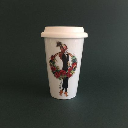 Nostalgické Vánoce - porcelánový termohrnek