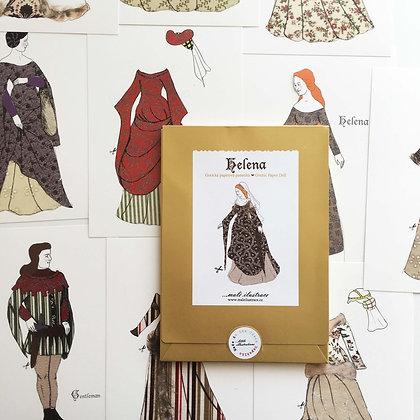 Papírová panenka Helena - gotika