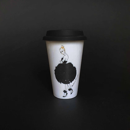Černá labuť cestovní hrnek