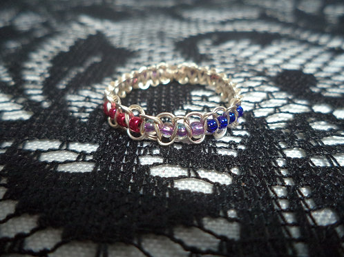 Bi Beaded Wire Ring - Size 12.5