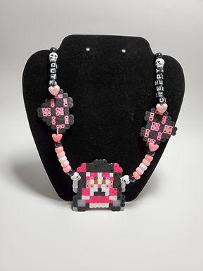 Creepy Cute Clown Kandi Necklace