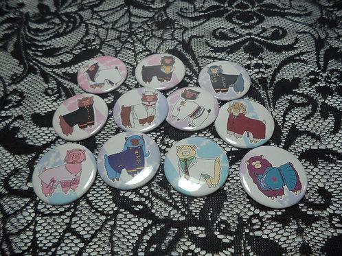 JJBA DIU Alpacasso Buttons