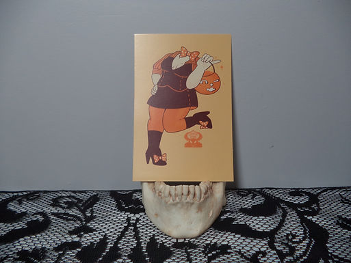 "4""x6"" Retro Pumpkin Babe Mini Print"