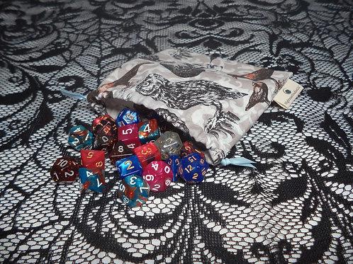 Gothic Drawstring Dice Bag