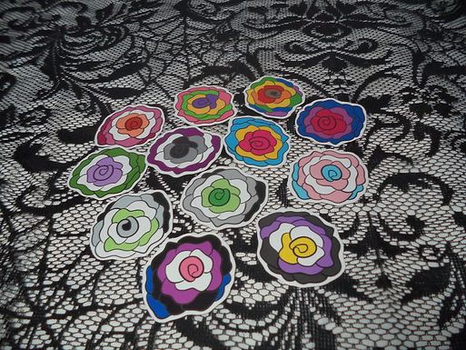 Vinyl Pride Rose Stickers