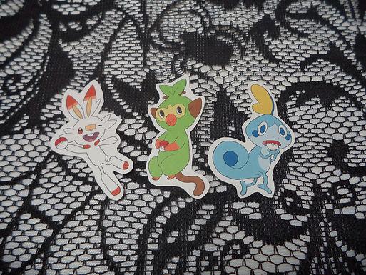 Paper Pokemon Sword & Shield Starter Stickers