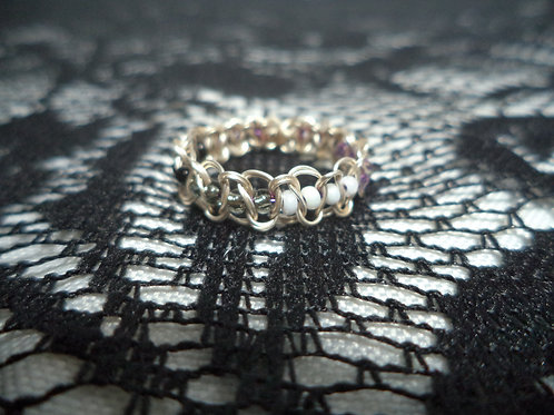 Ace Beaded Wire Ring - Size 7.5
