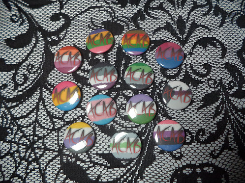 Messy Pride Flag ACAB Mini Buttons