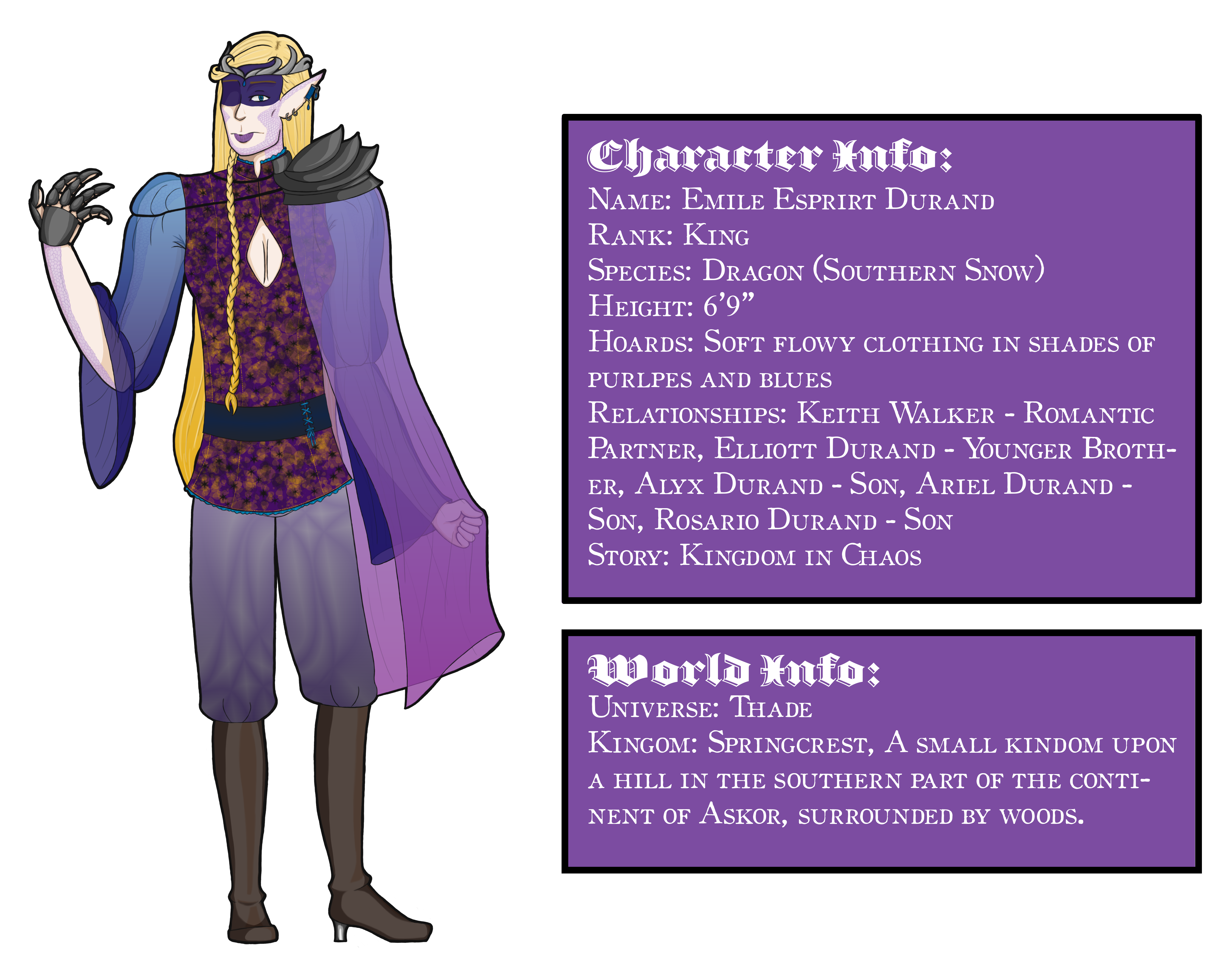 Thade Character Sheet - Emile Durand