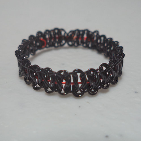 Black Red Wire Ring - Size 11