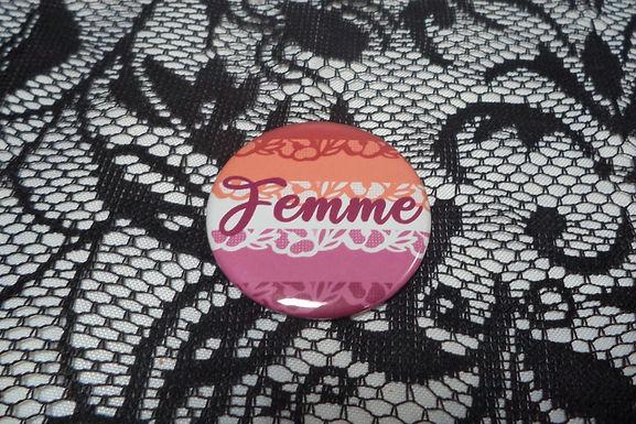 Femme Lesbian Button
