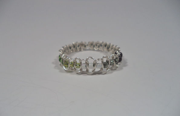 Aromantic Beaded Wire Ring - Size 13
