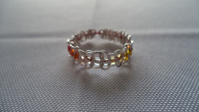 Butch Lesbian Beaded Wire Ring - Size 11.5