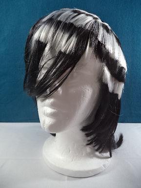 Asymmetrical Black/White Cosplay Wig