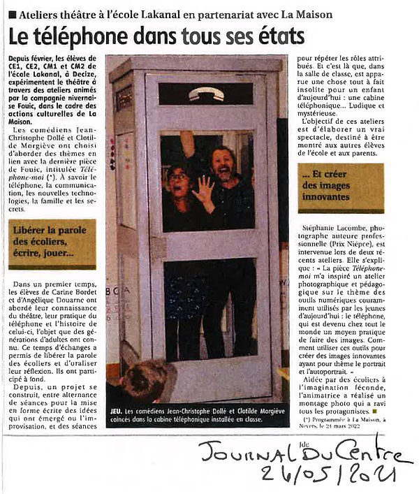 Atelier théâtre école Lakanal -JDC 24-05